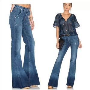 NWT Tularosa Flare raw edge high rise jeans